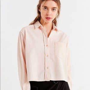 UO Cropped Buttondown Corduroy Shirt